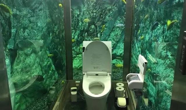 Mengunjungi Toilet Akuarium Jepang yang Terkenal di Akashi