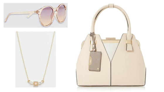 nude, accessories, fashion, sunglasses, handbags, jewelry, pink, pastels, salmon pink
