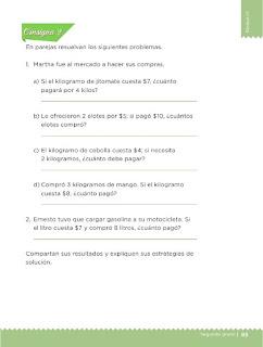 Apoyo Primaria Desafíos Matemáticos 2do Grado Bloque 2 Lección 44 La feria