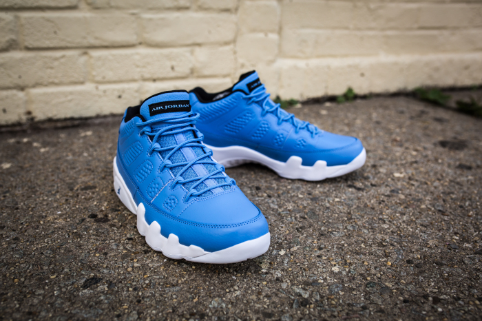 724a07231a6b27 The sneaker features a full leather university blue upper with a textured  leather on the mudguard and heel. Contrasting hits of white land on the  midsole