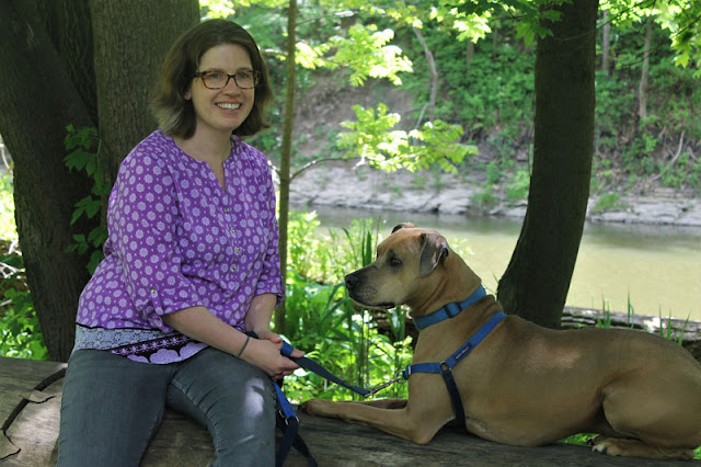 Dr. Christy Hoffman with her dog Santiago