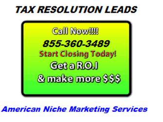 Tax Leads, Tax Resolution Leads, Student loan consolidation leads, debt leads