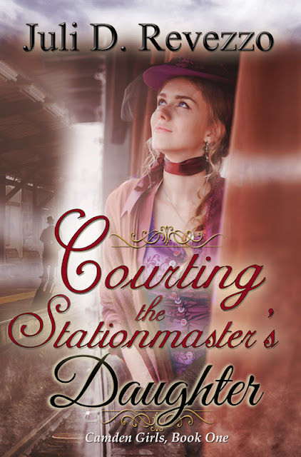 Courting the Stationmaster's Daughter by Juli D. Revezzo, historical romance, jilted bride, older man-younger woman romance, Amazon kindle, kindle unlimited