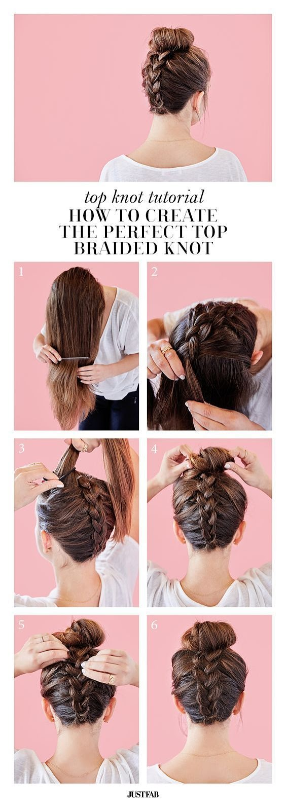 Top Braided Knot Easy Women's Hairstyles