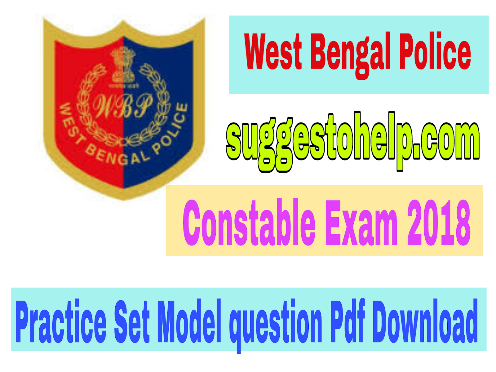 West Bengal Police Constable 2018 Exam Question Paper