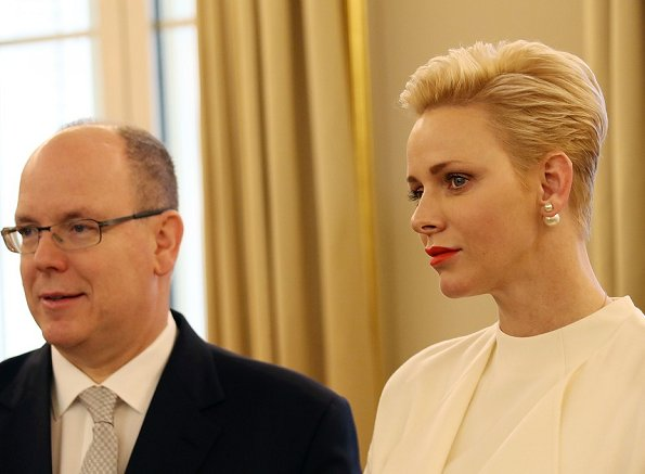 Celebrations of Monaco National Day 2016 ceremony on November 19. Princess Charlene, Charlotte Casiraghi, Pierre Casiraghi, Beatrice Borromeo Princess Caroline, Princess Stephanie
