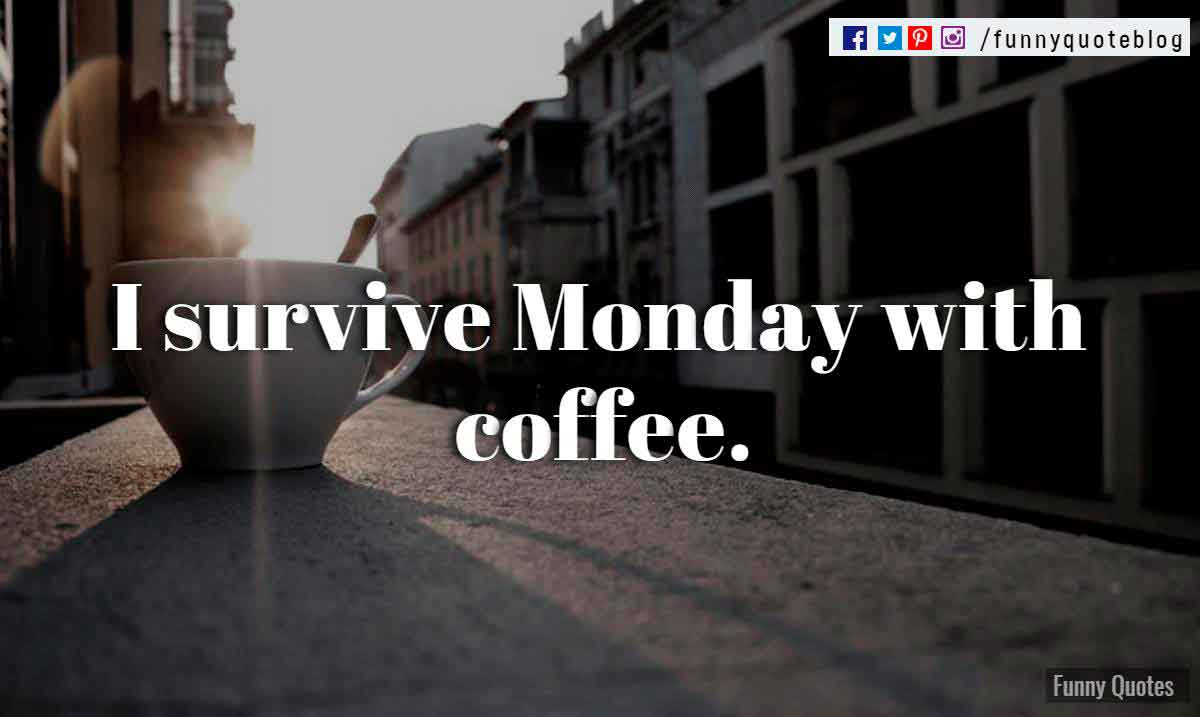I survive Monday with coffee.