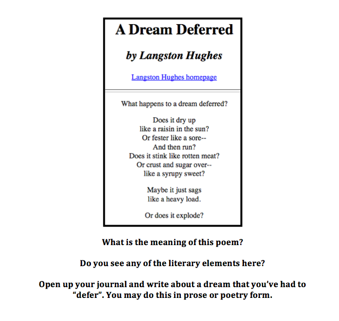 Dream Deferred - Poem by Langston Hughes