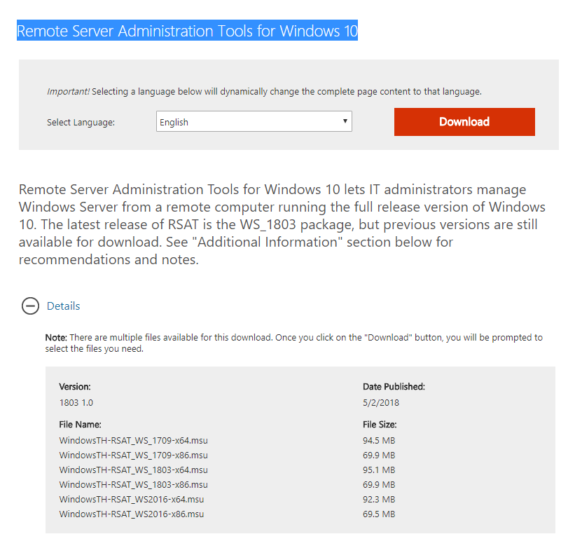 Remote server administration tools | active directory tools.