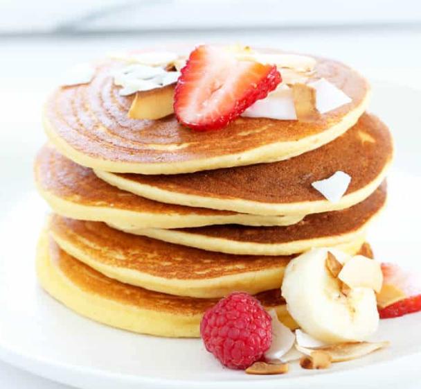 Fluffy Coconut Flour Pancakes #cake #pancakes