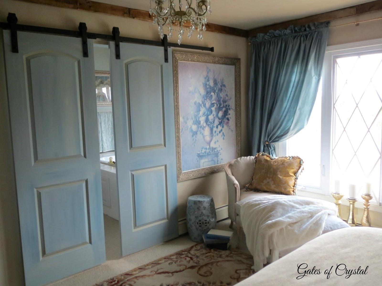 Gates of Crystal: A New Barn Door in the Master Bedroom