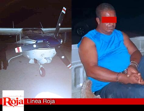 Policía beliceño, entre los 3 detenidos en el caso de la narcoavioneta hallada en la frontera con Belice