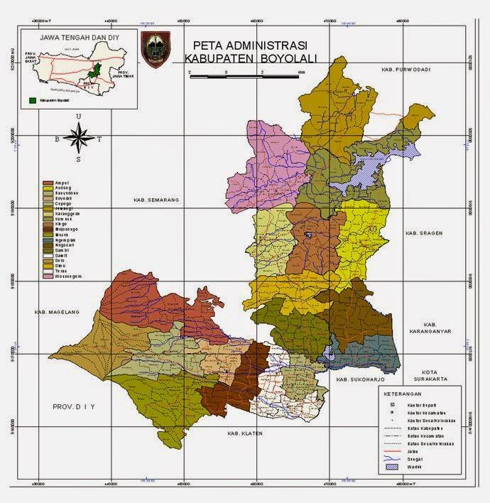 Industri Kabupaten Boyolali: Peta Administrasi Kabupaten ...