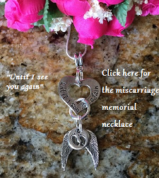 miscarriage memorial necklace