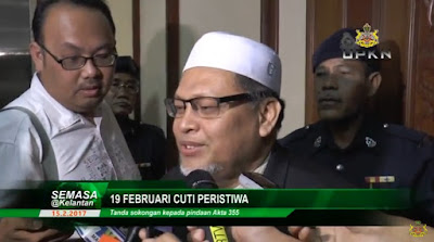 Kelantan Umum Cuti Peristiwa 19 Februari 2017 Sempena Himpunan RUU 355