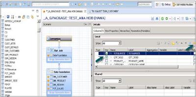 SAP HANA Analytic View