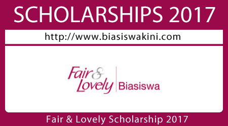 Fair & Lovely Scholarship 2017