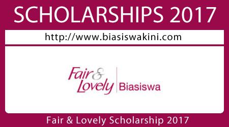 Fair & Lovely Scholarship 2017