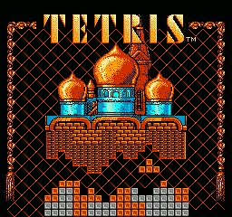 Pantalla de título de Tetris BPS para NES, 1988