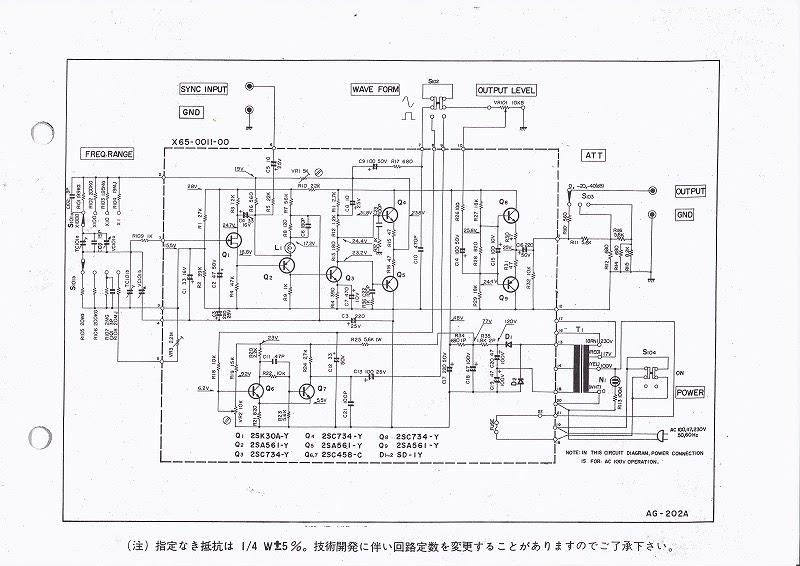 400Hz オーディオジェネレーター: ウィーンブリッジ回路によるオペアンプICを使ったCRオシレーターの作成