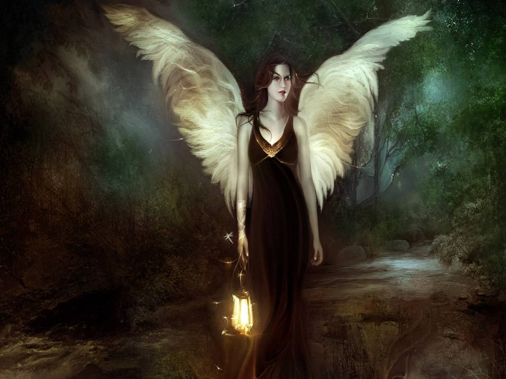 [donna/femmina angelica e misteriosa]