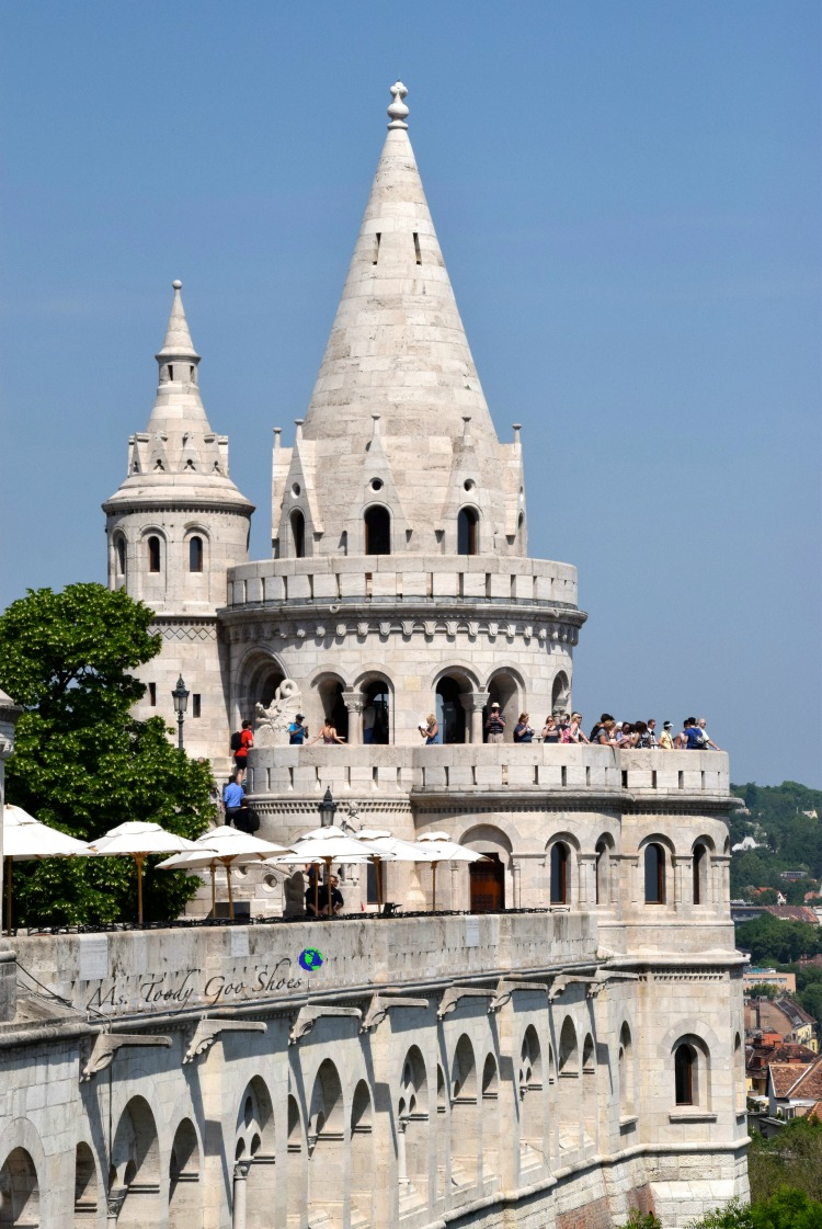 Fisherman's Bastion in Budapest  | Ms. Toody Goo Shoes #budapest #danuberivercruise #hungary