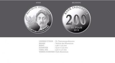 Uang rupiah baru pecahan Rp 200 logam