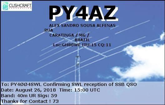 Alex Sandro Sousa Alfenas Caratinga PY4AZ