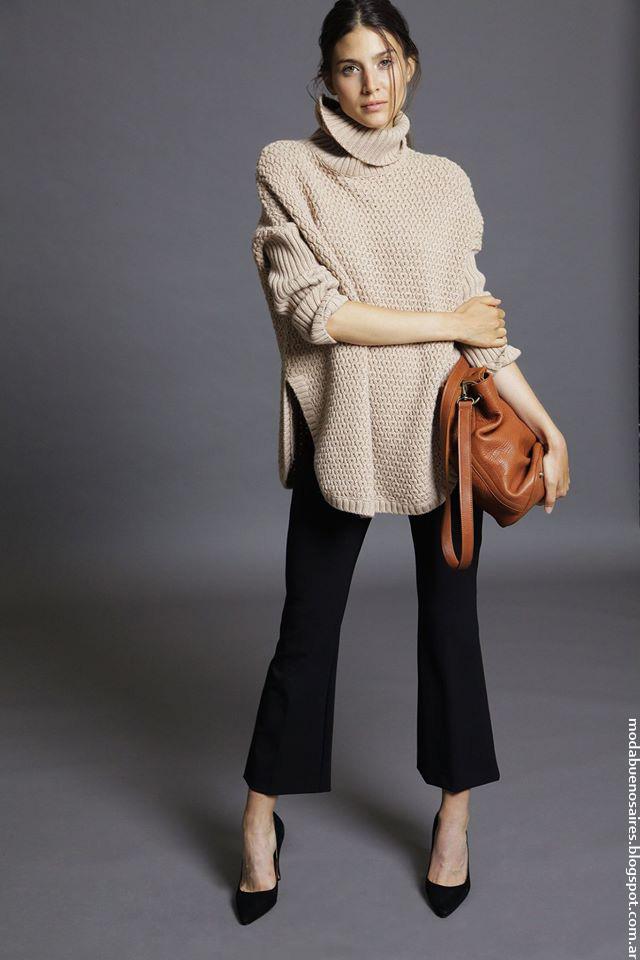 Pantalones y polerones invierno 2016 Awada moda mujer.