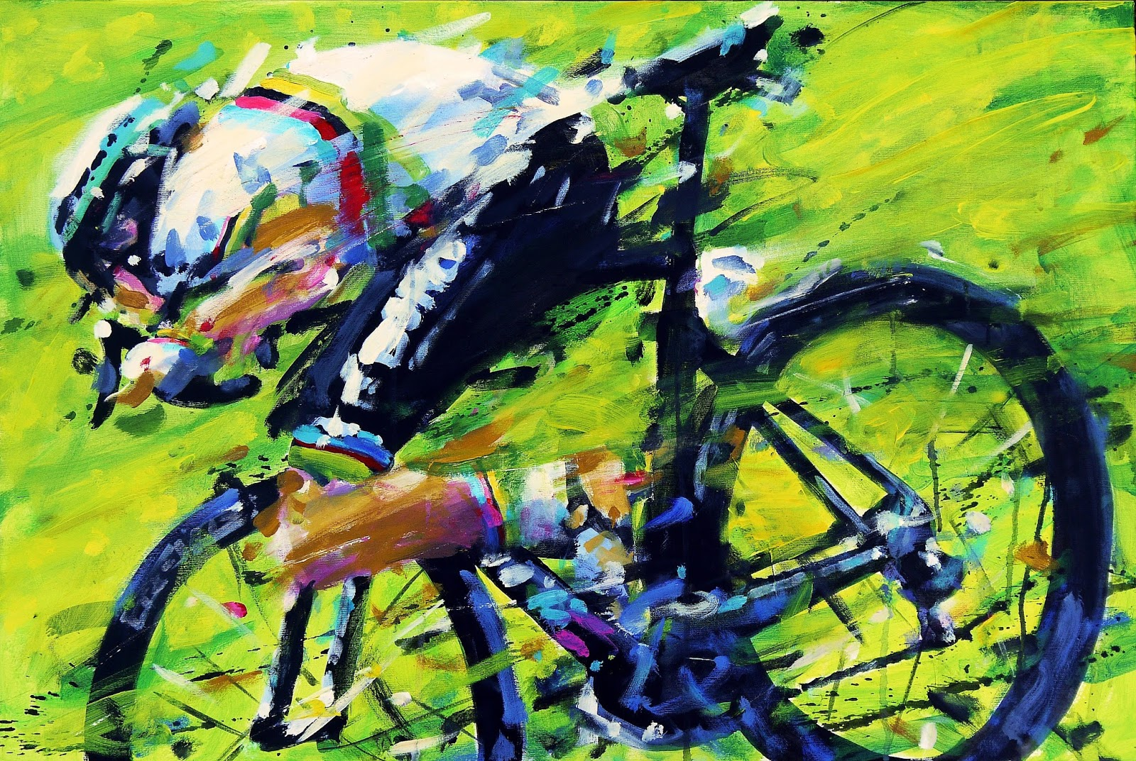 Painting le tour for Bicycle painting near me
