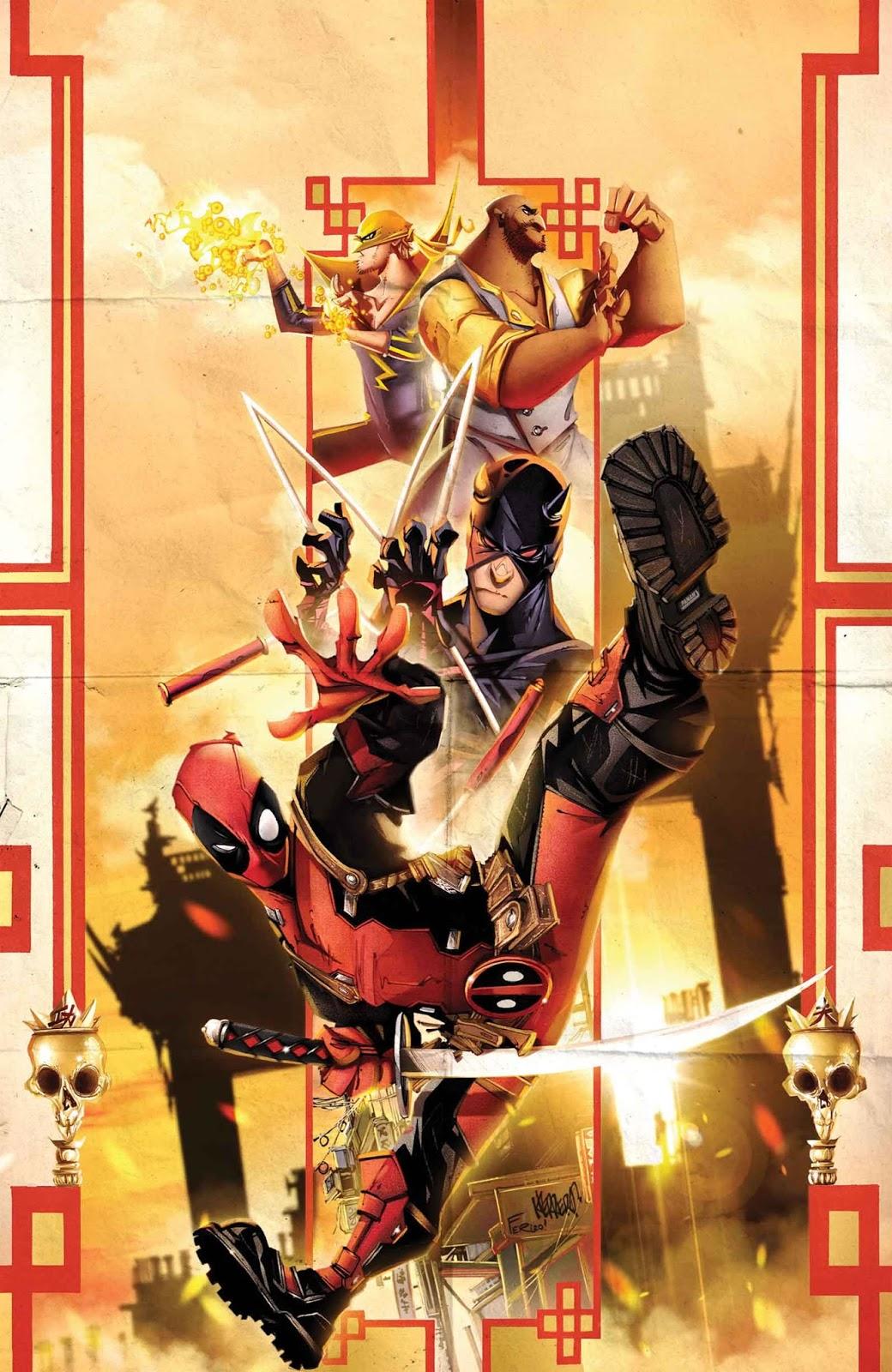 Deadpool Demolidor Punho de Ferro Luke Cage