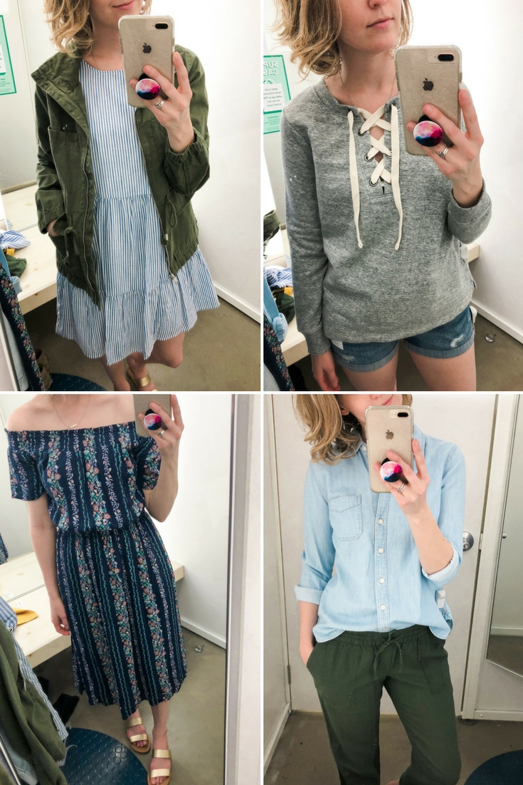 6e289280 Old Navy Casual Spring Try On Session | Jesse Coulter