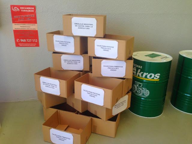 cajas para frutas y verduras.