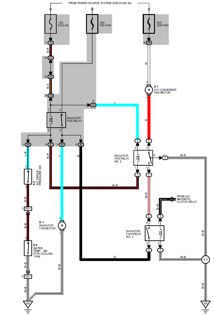 01 camry 2 cooling fans ac wiring diagram  wiring diagrams