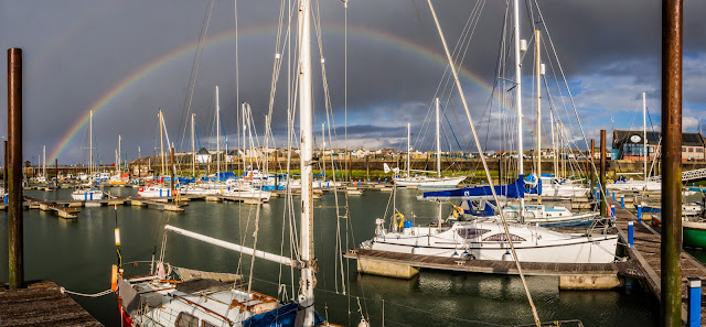 Photo of rainbow over Maryport Marina