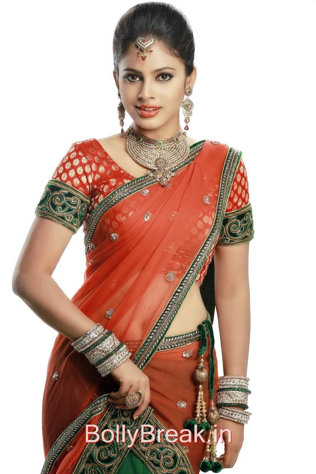 Kollywood Actress Nandita, Actress Nandita Swetha in Saree - Hot HD 2015 Pics