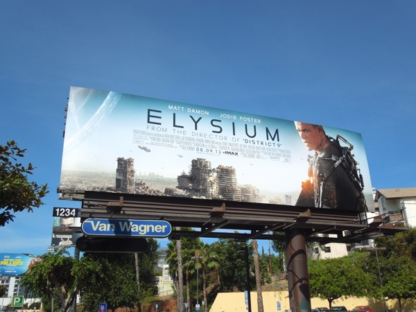 Matt Damon Elysium billboard