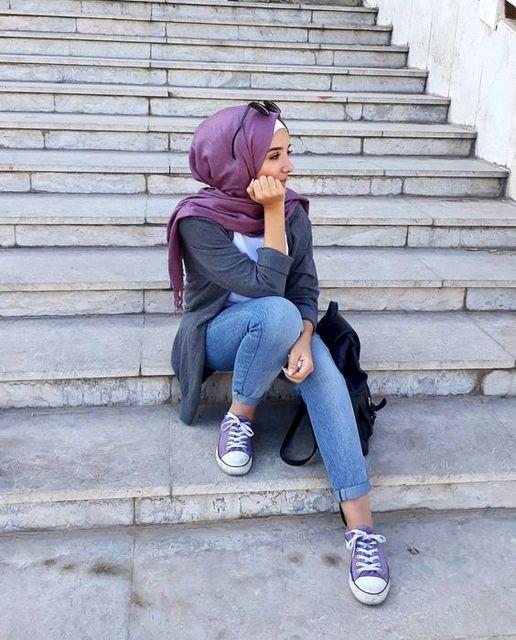 Trendy Lavender hijab terbaru