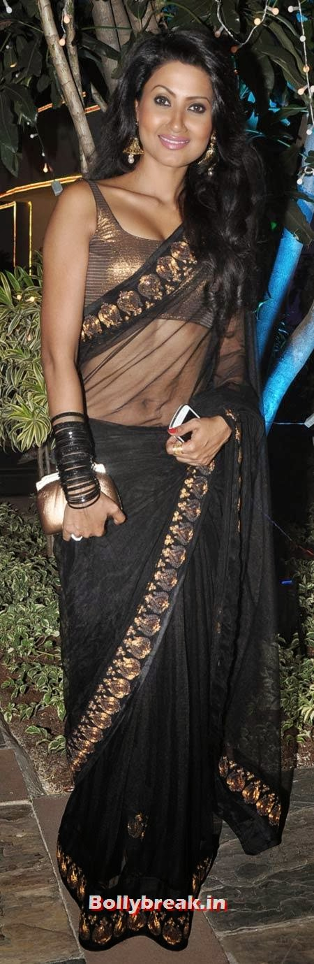 Nigar Khan in Black Saree, Sachiin Joshi and Urvashi Sharma's Diwali Party