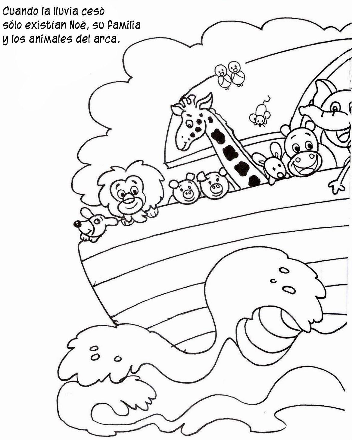 Compartiendo Por Amor Historia Arca Noé En Dibujos