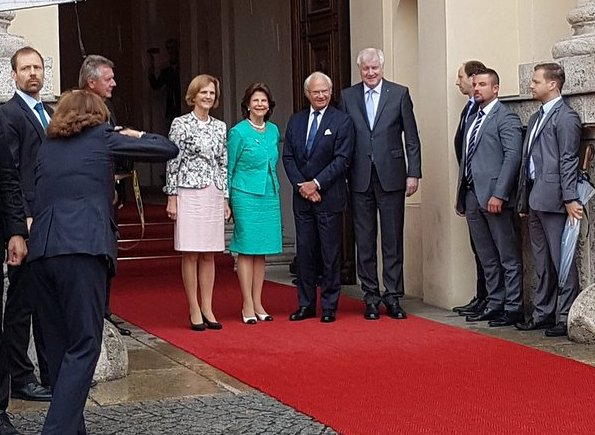 Queen Silvia of Sweden. Free State of Bavaria, was presented by Bavarian premier Horst Seehofer and Karin Seehofer