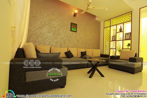 Living room interior, Pala, Kerala