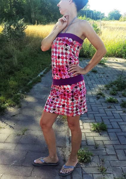 Sommerkleid ohne Schnittmuster nähen