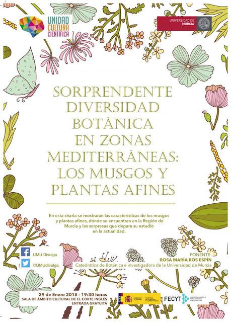 """Conferencia: """"Sorprendente diversidad botánica en zonas mediterráneas: los musgos y plantas afines""""."""