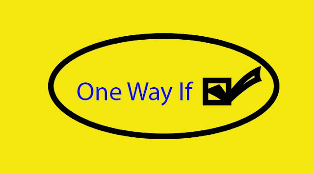 one way if