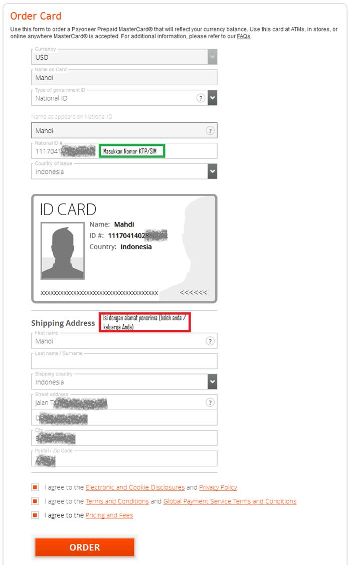cara mendapatkan kartu debit mastercard payoneer