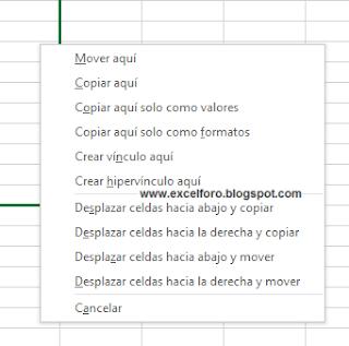 Atajos imprescindibles con el ratón en Excel