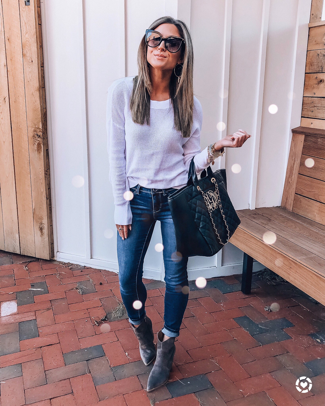 nordstrom bp white thermal sweater