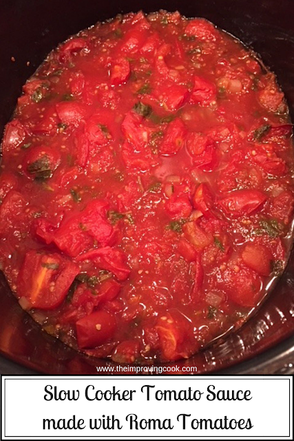 Slow Cooked tomatoes in the slow cooker