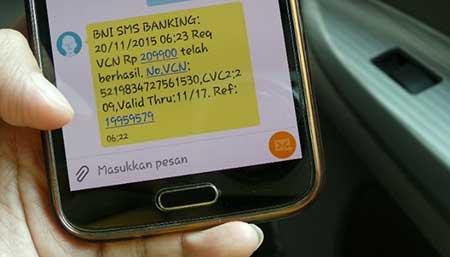 Format Isi Ulang Pulsa Melalui SMS Banking BNI?